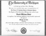1998 - MA, University of Michigan
