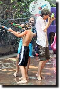 Water fight on Holi in Mumbai